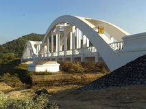 Белый мост поезда Стоковые Фото