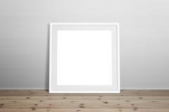 Белый модель-макет картинной рамки Стоковые Изображения