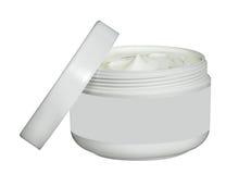 Белый опарник сливк красоты изолированный на белизне Стоковое Изображение