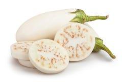 Белый отрезок баклажана Стоковое Фото