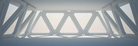 Белый перевод дизайна интерьера 3D Стоковые Фото