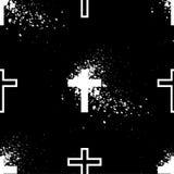 Белый перекрестный Grunge Стоковое Фото