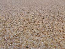 Белый песок от пляжа Gunung Kidul Стоковые Изображения RF
