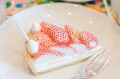 Белый пирог клубники Стоковые Изображения RF