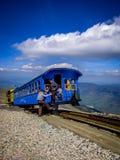 Белый поезд горы стоковое изображение