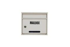 Белый почтовый ящик стоковые фотографии rf