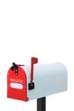 Белый почтовый ящик Стоковое фото RF