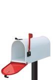Белый почтовый ящик Стоковые Изображения