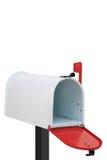 Белый почтовый ящик Стоковые Фото