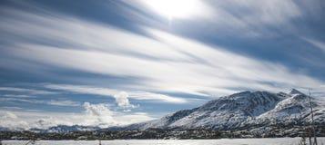 Белый пропуск Аляска Стоковая Фотография