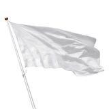 Белый пустой флаг на белой предпосылке Стоковые Фотографии RF