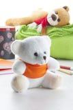 Белый плюшевый медвежонок Стоковая Фотография