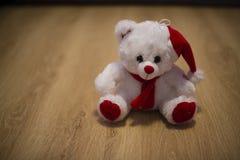 Белый плюшевый медвежонок Стоковое Изображение RF