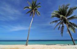 Белый пляж в Таиланде Стоковая Фотография