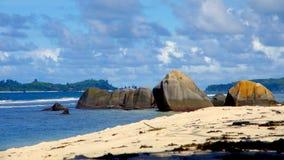 Белый пляж на Южной Африке Стоковое Изображение RF