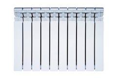Белый радиатор изолированный на белой предпосылке стоковая фотография