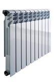 Белый радиатор изолированный на белой предпосылке стоковые фотографии rf