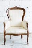 Белый ретро стул Стоковые Фото