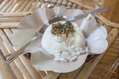 Белый рис в местном шаре Стоковая Фотография RF