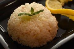 Белый рис и сваренный Стоковые Фото