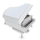 Белый рояль на белизне бесплатная иллюстрация