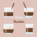 Белый русский коктеиль Стоковые Фото