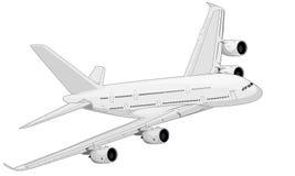 Белый самолет иллюстрация вектора