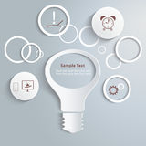 Белый свет и signage Infographic вокруг Стоковая Фотография