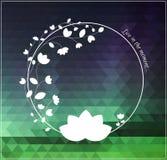 Белый символ на естественной предпосылке colorod Стоковое Изображение