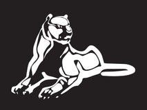 Белый силуэт тигра Стоковое Изображение