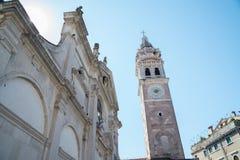 Белый собор в Венеции Италии Стоковые Изображения RF