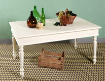 Белый состав оформления кухонного стола Стоковое Фото