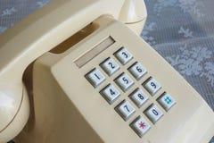 Белый старый телефон Стоковые Изображения