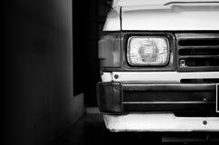 Белый старый японский автомобиль Стоковые Фото