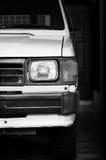 Белый старый японский автомобиль Стоковое фото RF