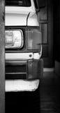 Белый старый японский автомобиль Стоковое Фото
