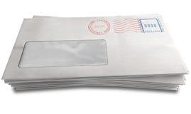 Белый стог конверта Стоковое фото RF