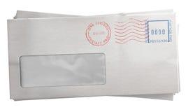 Белый стог конверта Стоковые Изображения RF