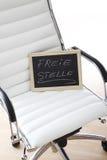 Белый стул офиса, классн классный, вакансия, стоковое изображение rf