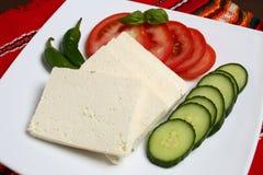 Белый сыр фета Стоковые Изображения