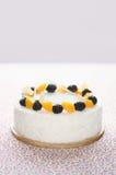 Белый торт зефира Стоковая Фотография