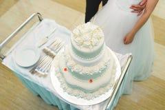 Белый торт Weddding Стоковая Фотография RF