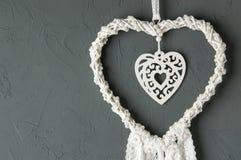 Белый улавливатель мечты сердца Стоковые Изображения