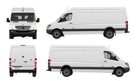 Белый фургон вектор Стоковая Фотография