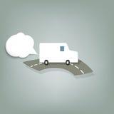 Белый фургон бесплатная иллюстрация