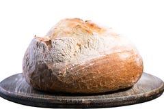 Белый хлеб на деревянной предпосылке Стоковые Изображения