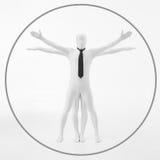 Белый человек Davinci vitruvian Стоковые Изображения RF
