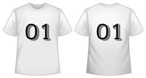 Белый шаблон футболки с фронтом и задней частью бесплатная иллюстрация