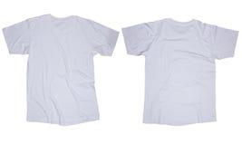 Белый шаблон футболки Стоковая Фотография RF