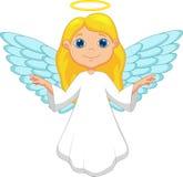 Белый шарж ангела Стоковое Изображение